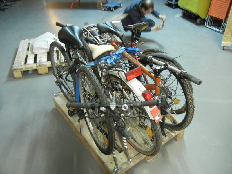 Prototype de stockage de 4 vélos sur une palette